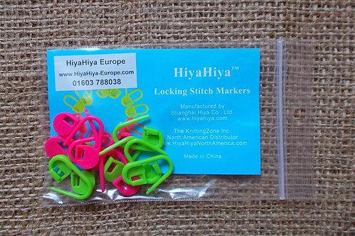 HiyaHiya locking stitch markers, 12pcs