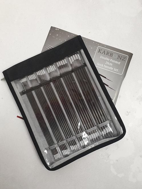 Knitpro Karbonz dpn's set, 15 cm or 20 cm