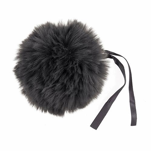 Faux Fur POM POMS, 11cm, GREY