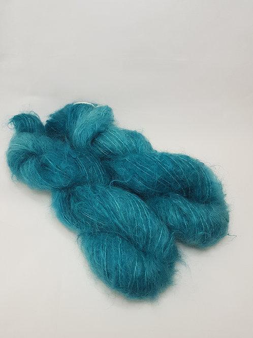 Mohair Wool, DK weight, 50g, TEAL