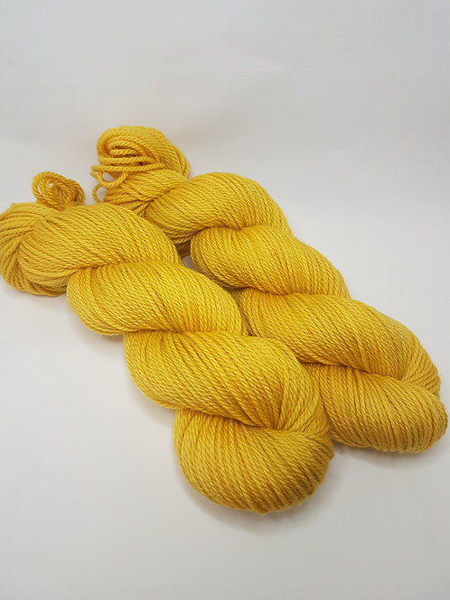 Merino Superwash yarn, Aran weight, 100g, HONEY MUSTARD