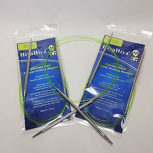 "HiyaHiya Stainless Steel Circular Knitting needles, 100cm/40"""