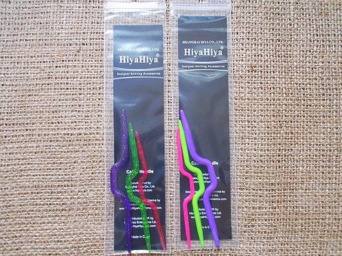 Hiya Hiya Knitting Cable Needles, set of 3