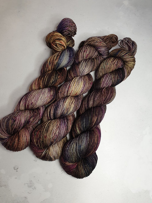 SW Merino Nylon yarn, 4-ply, Fingering weight, 100 g, LET'S MEET AGAIN