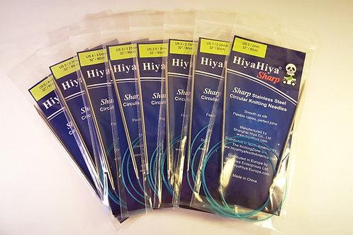 Hiya Hiya SHARP  fixed circular needles, 2-15 mm, 80cm