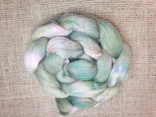 Merino roving, wool top, 100 g,ROOTED