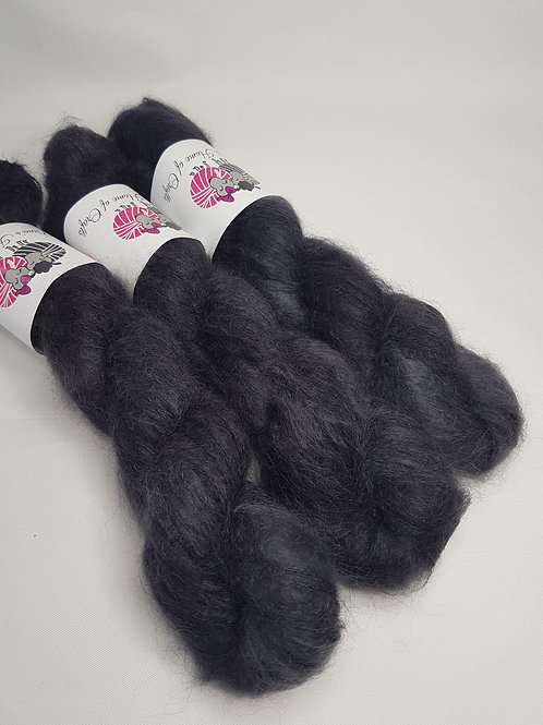 Kid Mohair Silk yarn, Lace weight, 50 g, CHARCOAL