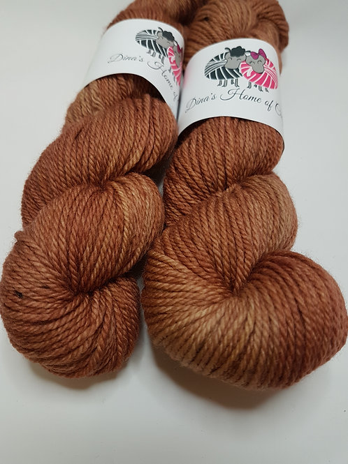 Hand dyed Merino Superwash yarn, Aran weight, 100g, FAWN