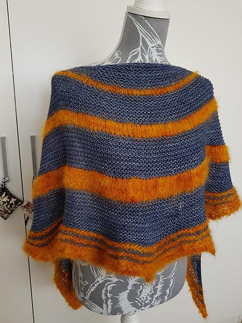 SPICE MARKET SHAWL, Knitting pattern, hard copy