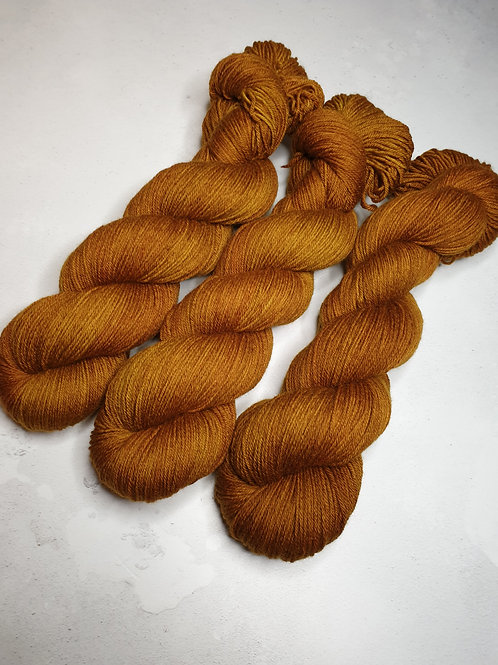 Merino/ Baby Camel yarn, 4-ply, fingering , TOBACCO