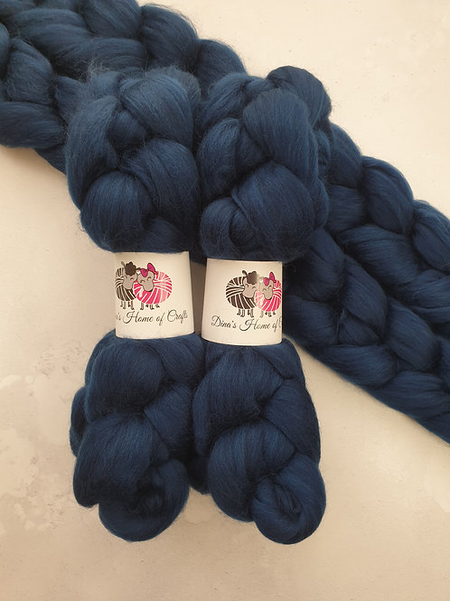 Merino roving, wool top, 100 g,OCEAN