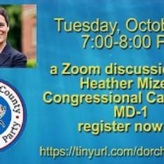 Congressional Candidate Heather Mizeur-ZOOM