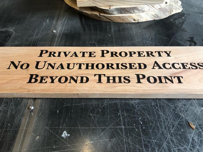 Extra Large Warning Sign