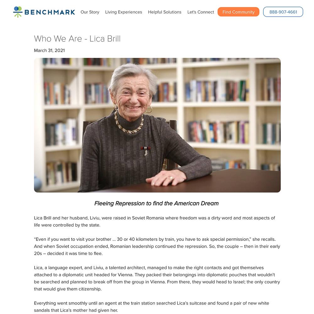 Benchmark resident story