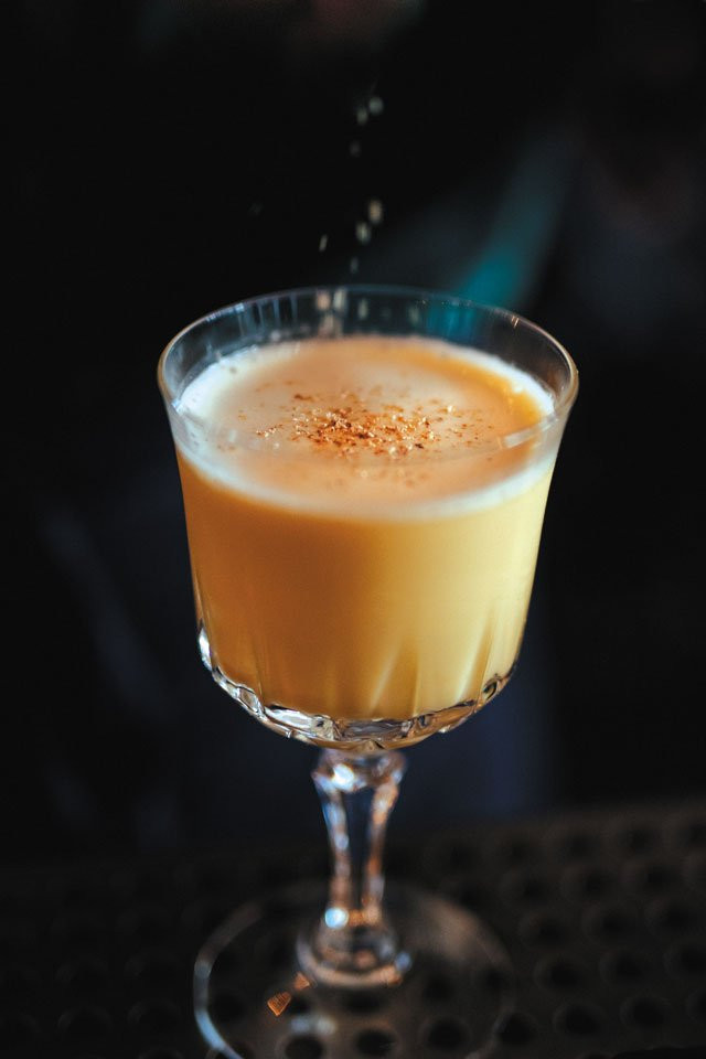 Eggnog cocktail from Alewife in Richmond, VA