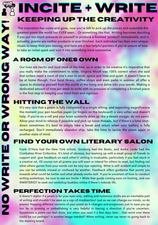 incite + write keeping up creativity colour