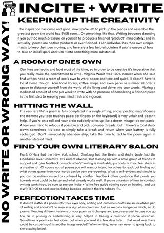 incite + write keeping up creativity plain