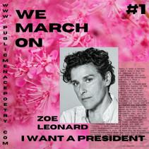 we march on: #1- Zoe Leonard