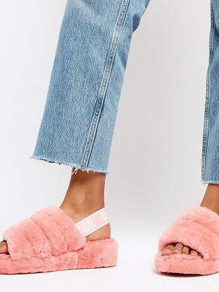 ugg-pink-Exclusive-Pink-Fluff-Yeah-Slipp