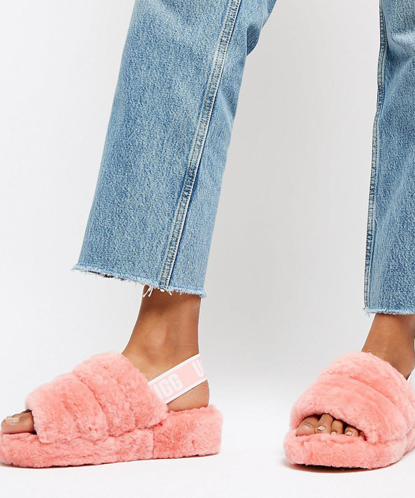 ugg-pink-Exclusive-Pink-Fluff-Yeah-Slipp