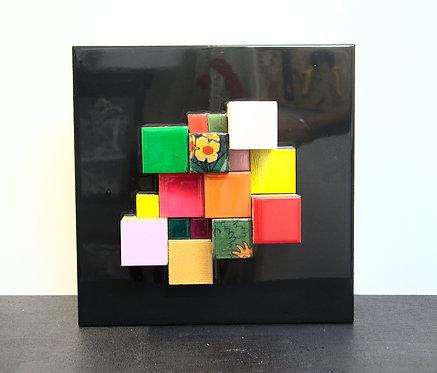 Cubes fond noir 1