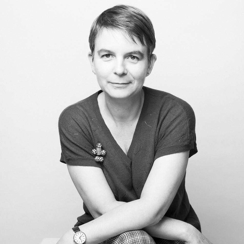 Portrait Laurence Lehel photo noir et blanc