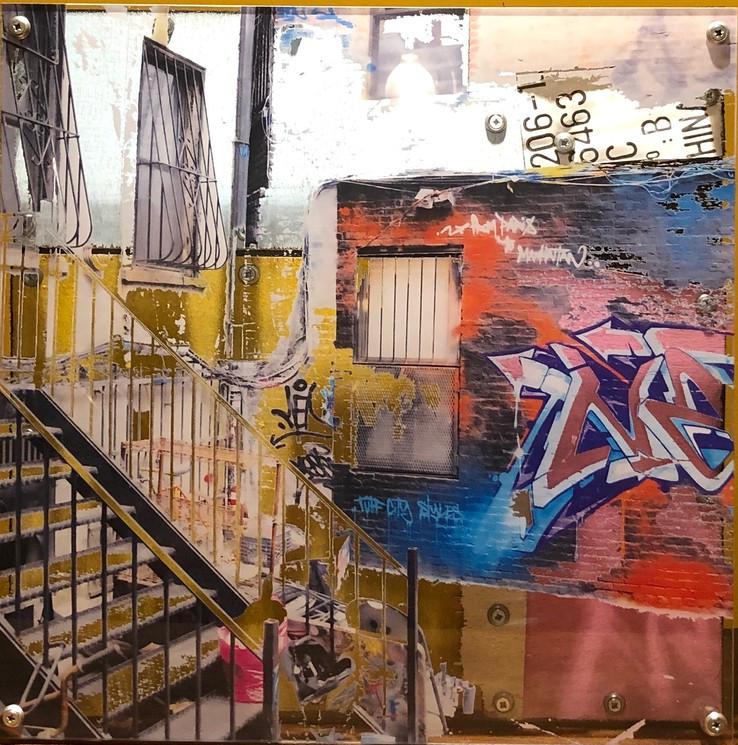 Pléxi, série d'œuvres d'art faites par NZO23 jouant sur la perspective. Influences urbaines