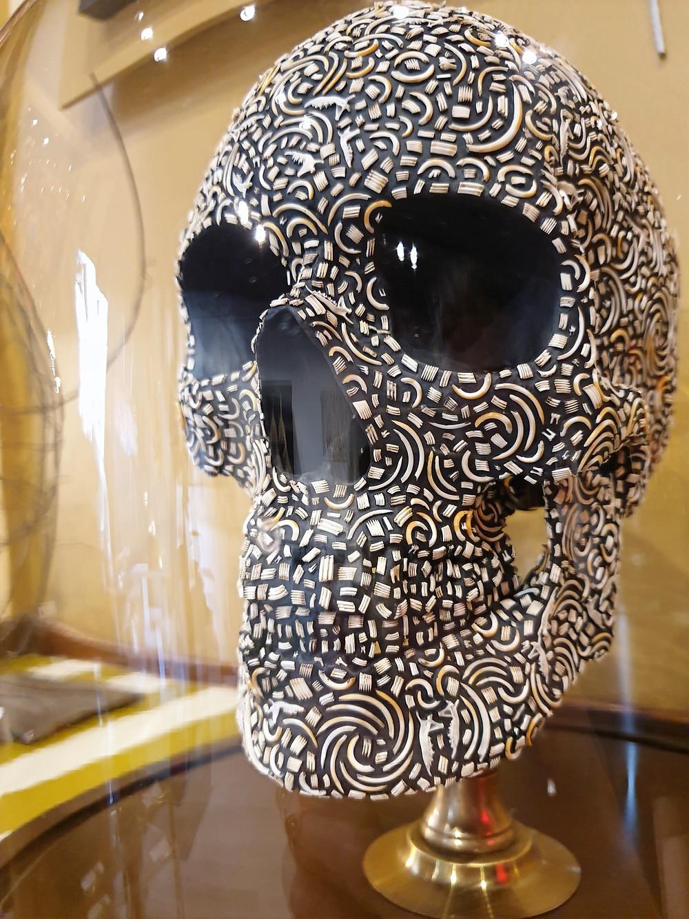 Crâne avec dents de micromammifères art Guillaume Allemand Vanité
