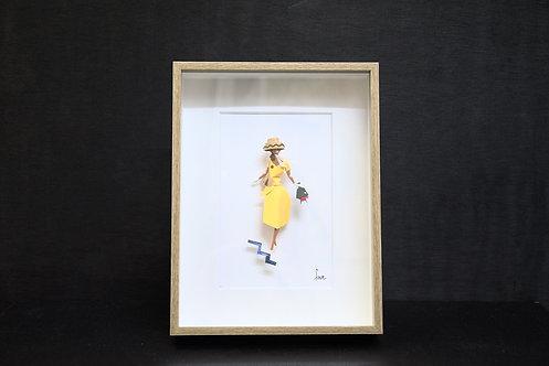 Dame à la robe jaune