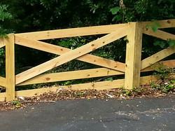 X pattern fence - Backyard Borders