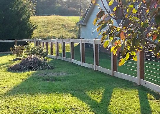 custom wood & wire fence - Backyard Borders Fence Company LLC