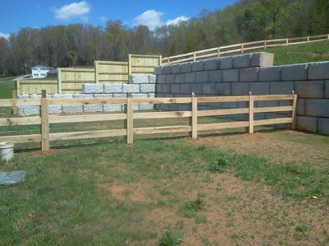 custom wood fence - backyard borders