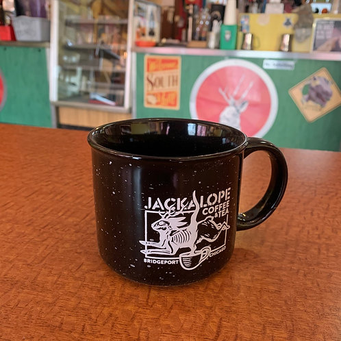 Black logo coffee mug