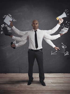Concept of multitasking businessman.jpg