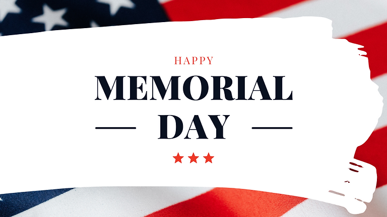 Happy Memorial Day- No Chat Due to the Holiday