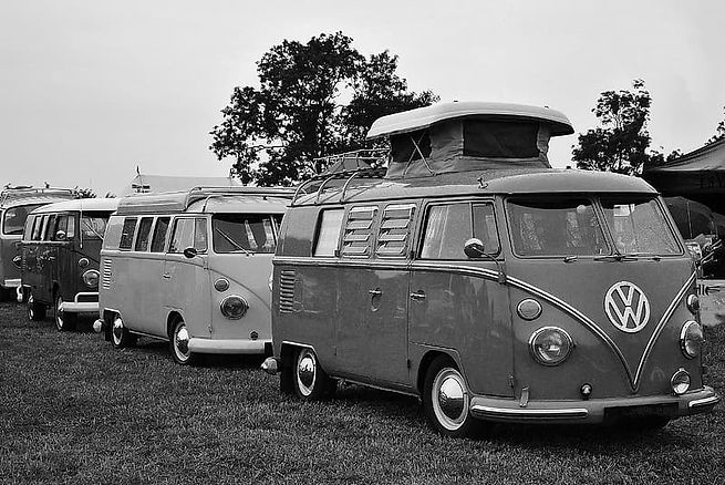 grayscale-photography-of-three-volkswage