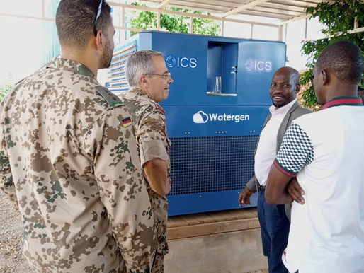 ICS installs the first air to water production unit in West Africa