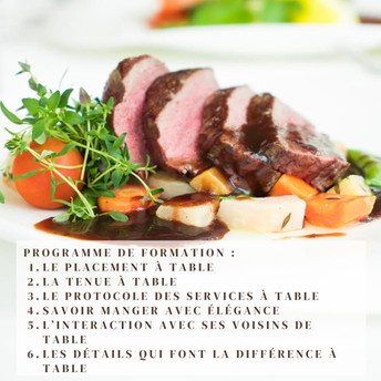 Polish your table manners with La Classe