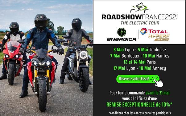 Energica moto Roadshow electroad nantes.