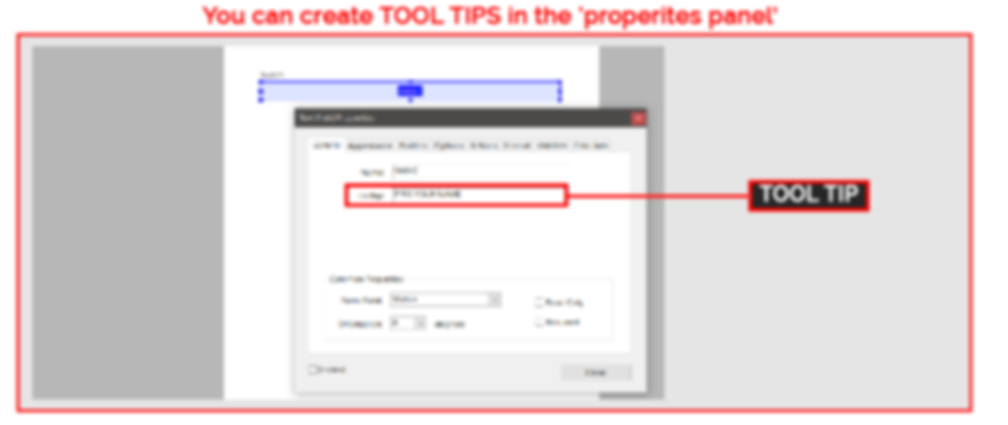 Example of tool tips