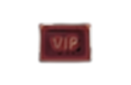 Luminous red neon sign of VIP on a dark