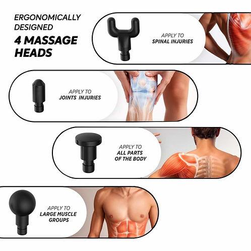 4 Massage Gun Heads