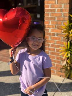 nina with heart