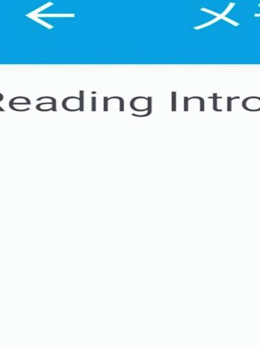 READING INTRO