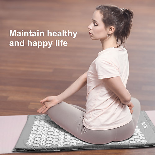 Aerb acupressure mat, acupressure mat with pillow and 3 balls of massage pen, ac