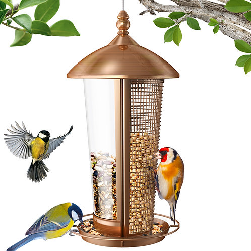 Sahara Sailor Bird Feeder, 2 in 1 Wild Bird Feeders for Outside, Metal Birdfeede