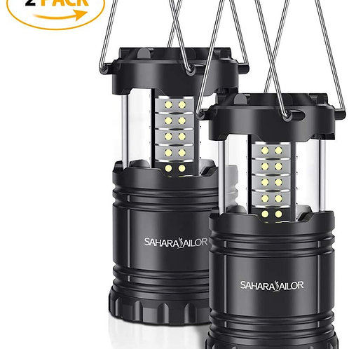 [2 PACK] Camping Lantern- Sahara Sailor Ultra Bright LED Lantern- Collapses