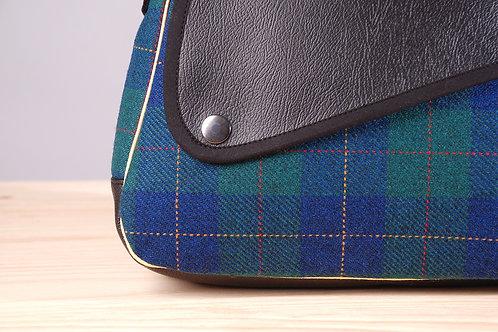 Bolso Milán mini escocés azul