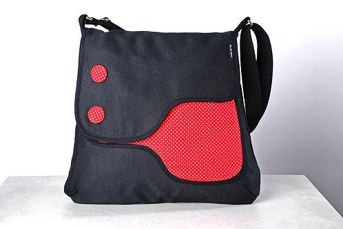 Bolso Moon de Val Giulietta negro/ lunares rojo