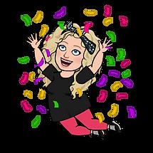 alycia yerves bitmoji jumping with confetti